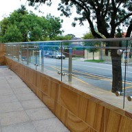 Clear glass balustrade