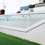 Frosted glass rooftop balustrade