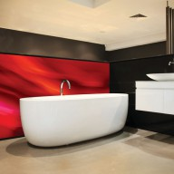 Custom printed splashback
