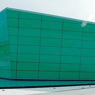 Full glass building