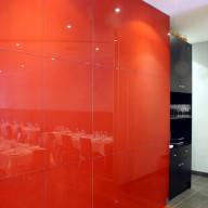 Restaurant back wall